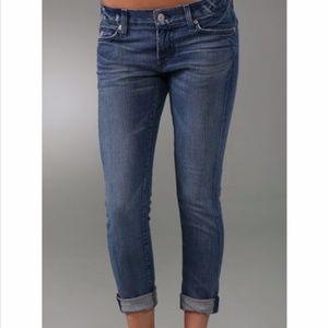 7 for All Mankind Roxanne Flood Skinny Crop Jean